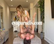 school girl Eva Paradis dominate a straight dude from asmr dominant girl
