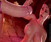 Cerene Royal Descent Trailer Futanari Blowjobs Assfucking and Cum from ceren