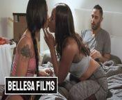 Bellesa - Ebony bffs Chanell Heart & Honey Gold Share white dick from black gold