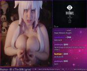 Gamer Girl in Kanna Cosplay Gushes LIVE on Plexstorm Stream from beastialityx adult girlss rasi kanna xxx photos